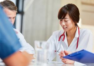 doctors in testing lab