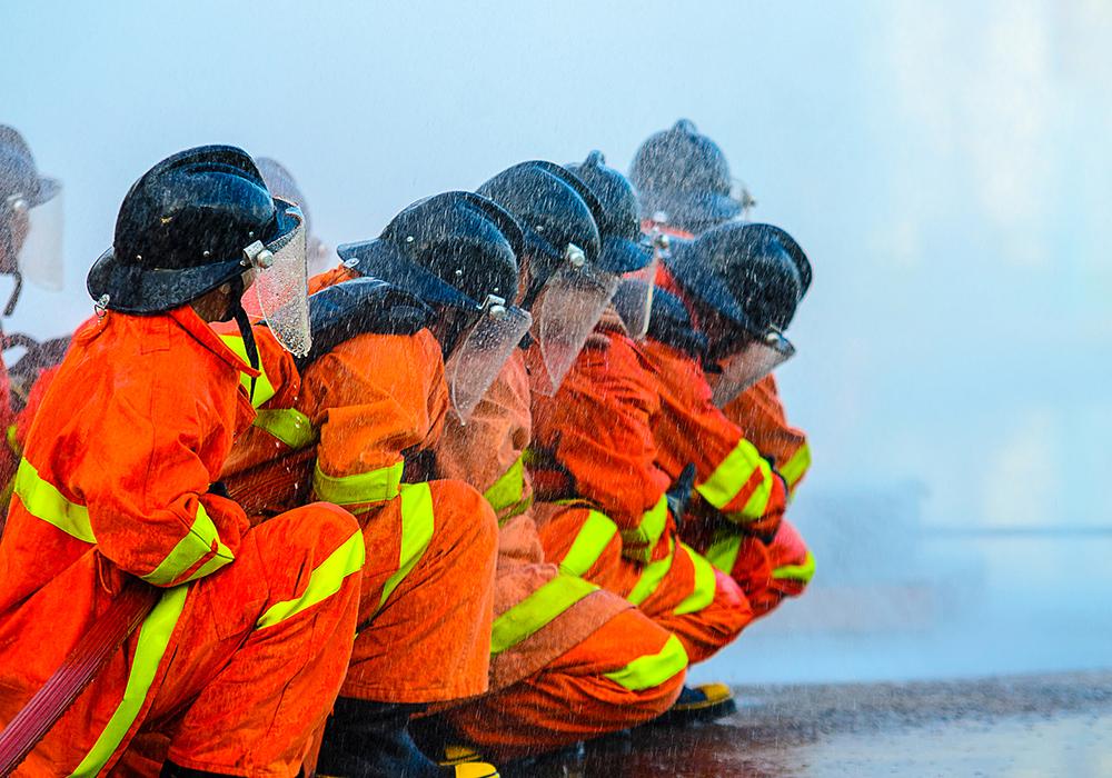 fireman on the job
